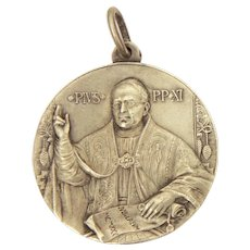 Pope Pius XI 1925 Jubilee Medal with Dome of St. Peter's Basilica