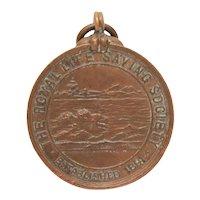 Royal Life Saving Society 1906 Bronze Medal, Saved Drowning Victim, Antique English Life Guard Award