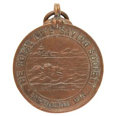 Royal Life Saving Society 1906 Bronze Medal, Saved Drowning Victim, Antique English Life Guard Award
