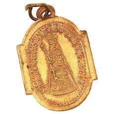 Catholic Pilgrimage Medal Shrine of Notre Dame de la Sarte in Huy Belgium, Antique Bronze Saint