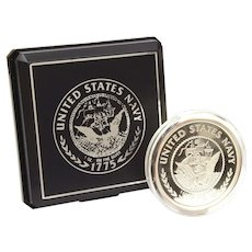 US Navy 1 oz 999 Fine Silver Medal Commemorating 1775 Founding of United States Navy