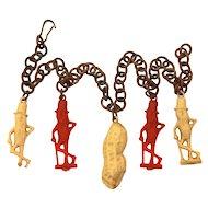 Planters Mr. Peanut Celluloid Charm Bracelet