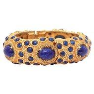 K.J.L. Clamper Bracelet Watch, Kenneth Jay Lane KJL Sheffield 15 jewel Wrist Watch