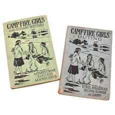 1918 Camp Fire Girls Books by Stella M. Francis Ethel Hollister's Second Summer & Alleghany Mountains Christmas