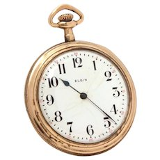 Elgin Pocket Watch in Gold Filled Illinois Open Face Case