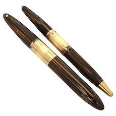 Sheaffer Tuckaway Fountain Pen with 14k Lifetime Nib and Mechancal Pencil
