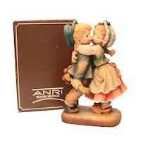 "Large ANRI First Kiss in Box 7.75"" Tall Signed Ferrandiz, 169/750"