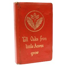 Book Bank Pearson Page Jewsbury England Tall Oaks from Little Acorns NO KEY