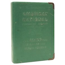 Book Bank Galveston Texas American National Insurance Adverting by Zell NO KEY