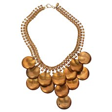 Designs by Paula Brass Bib Necklace
