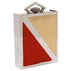 Art Deco Folding Travel Clock Red and Cream Enamel, Parts & Repair