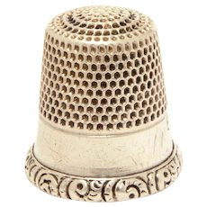 Antique MKD Sterling Thimble Ketcham & McDougall, Size 8