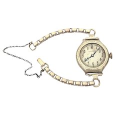 Art Deco Ladies Hamilton Wrist Watch White Gold Filled, 17 jewels, 986A