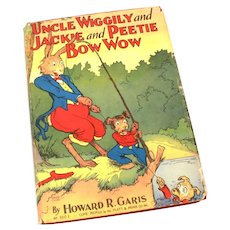 1952 Uncle Wiggily & Jackie & Peetie Bow Wow Hardback Book in Dust Jacket Platt Munk