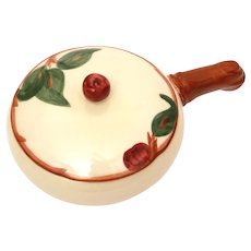 Franciscan Apple Pattern Individual Casserole with Lid & Handle 1953-58