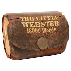 """Miniature Little Webster Leather Dictionary 18000 Words, 2 x 1.5"""""""