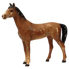 "Cast Iron Toy Horse Miniature 3.75"" Tall"