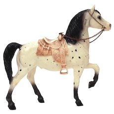Breyer Horse Semi Glossy Leopard Appaloosa Western Prancer #115, Saddle & Chain Rein