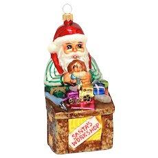 "Christopher Radko Santa's Workshop Christmas Ornament, Large 6.5"""