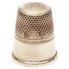 Sterling Germany Thimble Size 6, Simple Classic Design