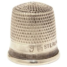 Sterling Thimble Goldsmith Stern Co, GSC Fouled Anchor, Child Size 9