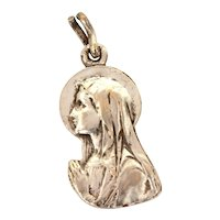Silverplate Catholic Our Lady of Lourdes Medal