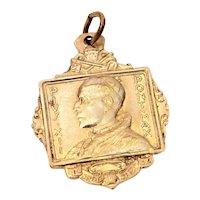 1950 Pope Pius XII Catholic Medal with Basilicas Gold Tone