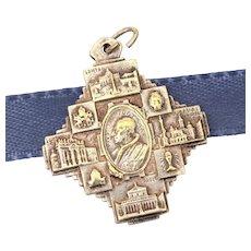 Catholic Saint Peter & St. Paul Medal Pope Pius XII & Basilicas of Rome