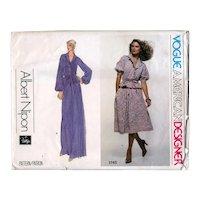 Size 10 Albert Nippon Vogue American Designer Sewing Pattern 1745 UNCUT Skirt & Blouse