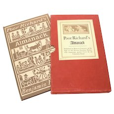 Poor Richard's Almanack Benjamin Franklin Peter Pauper Press Hardback Almanac Book in Slipcase