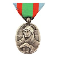 WWI Medal Battle of Argonne Vauquois, Military Veteran