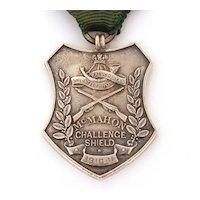 1910 Sterling  Medal Baluchistan Volunteer Rifle British Raj Era, McMahon Challenge Shield