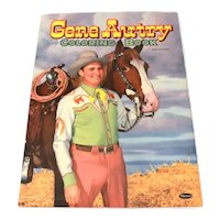 "1951 Gene Autry Coloring Book, Large Format 15 x 11"" Genuine Original by Whitman"