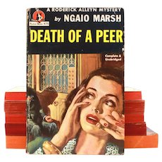 DEATH OF A PEER by Ngaio Marsh, Roderick Alleyn Mystery, Pulp Paperback, Pocket Books 1947 #475
