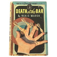 1947 DEATH AT THE BAR by Ngaio Marsh, Roderick Alleyn Mystery Pulp Paperback Pocket Books #297