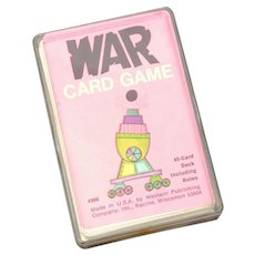 1975 WAR Card Game by Western Publishing in Plastic Case, Complete Deck
