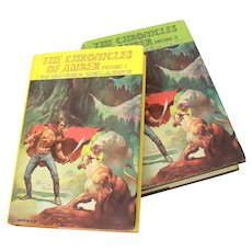 The Chronicles of Amber Volumes 1 & 2 by Roger Zelazny 1970s, Hardback Books with Dust Jackets. Nelson Doubleday Book Club Edition