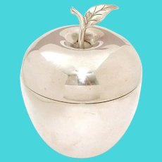 """Tiffany & Co Sterling Large Apple Box 4.25"""" high"""