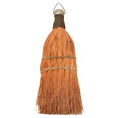 """Vintage Country Whisk Broom Wire Wrapped, Small 7.25"""""""