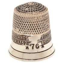 Sterling Liberty Bell Thimble by Simons, 1976 American Bicentennial