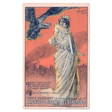 1918 Presitito Nazionale Italiano Postcard Italian National War Bond Loan Program with Double Headed Reichsadler Eagle