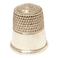 Sterling Simons Thimble, Size 12, Plain and Simple Design