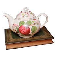 Portmeirion Pomona Teapot Hoary Morning Apple, 5-6 Cup Tea Pot, Made in England Orange Mark