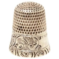 Antique Sterling Thimble Goldsmith Stern GSC Fouled Anchor Size 6 or 8, Beautiful Design but Holes