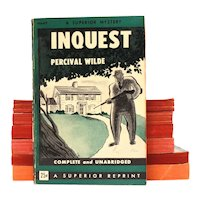 1945 INQUEST Pulp Paperback by Percival Wilde, Superior Reprint Military Service Publishing M647