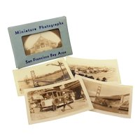 16 San Francisco Mini Sepia Photographs Zan Stark, Mailer Packet Souvenir Photo Cards, RPPC