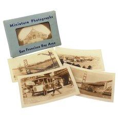 16 San Francisco Mini Sepia Photographs Zan Stark, Mailer Packet Souvenir Photo Cards, RPPC