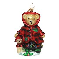 Christopher Radko Christmas Ornament All Spruced Up Muffy VanderBear