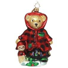 Christopher Radko Christmas Ornament All Spruced Up Muffy VanderBear