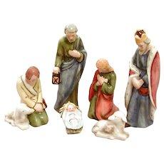 Goebel Bee and V Nativity Set 6 Pieces, Germany, Sacrart SOME DAMAGE